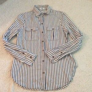 Paige Button Down Shirt Size XS striped